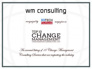 wm consulting Certificate for top 10 change management
